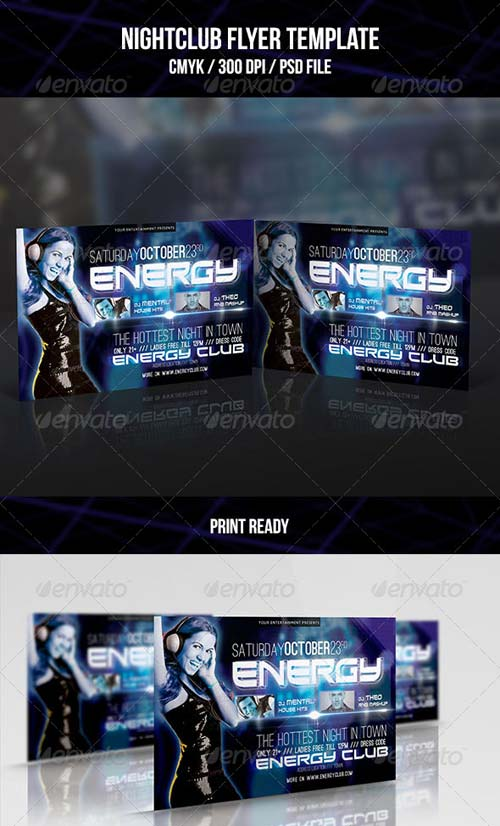 GraphicRiver Night Club Flyer Template 07