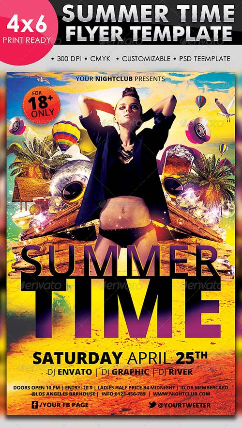 GraphicRiver Summer Time Flyer Template