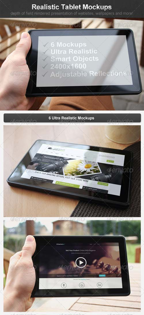 GraphicRiver Realistic Tablet Mockups