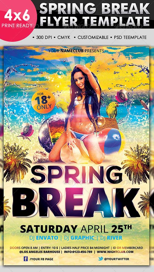 GraphicRiver Spring Break Flyer Template
