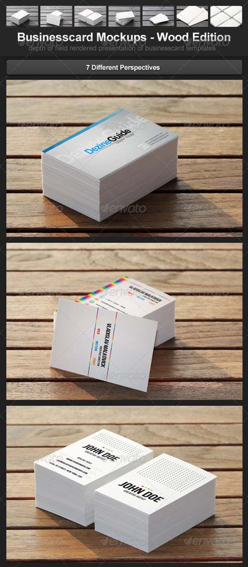 GraphicRiver Businesscard Mockups - Wood Edition