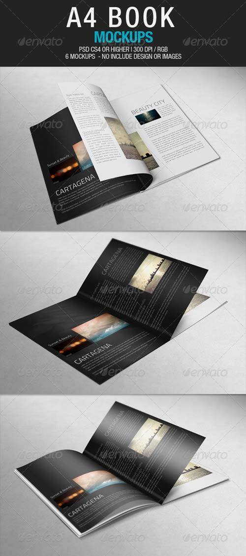 GraphicRiver A4 Book Mockups