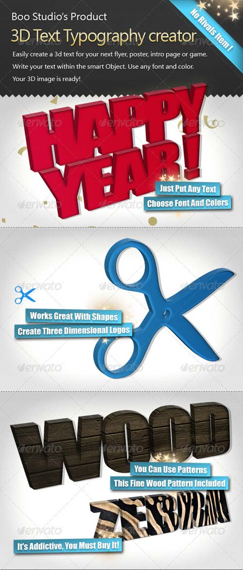 GraphicRiver 3D Text Typography Creator