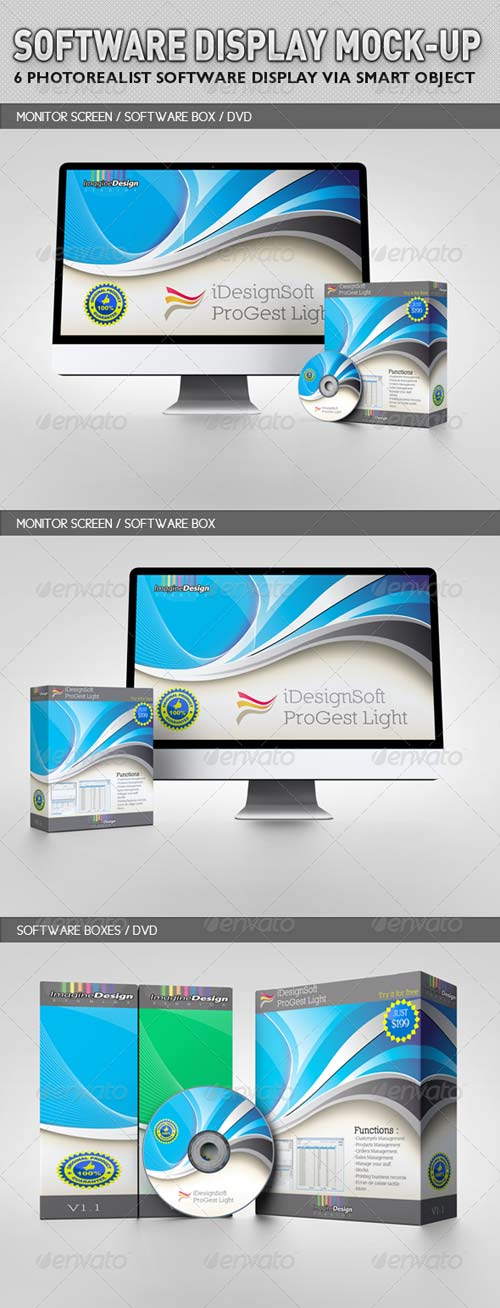 GraphicRiver Software Display Mock-up