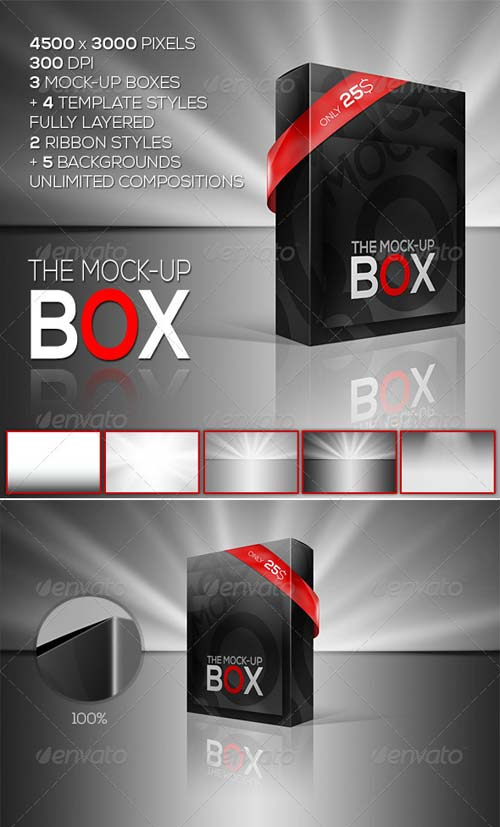 GraphicRiver The Mock-Up Box | 7 Photorealistic Styles