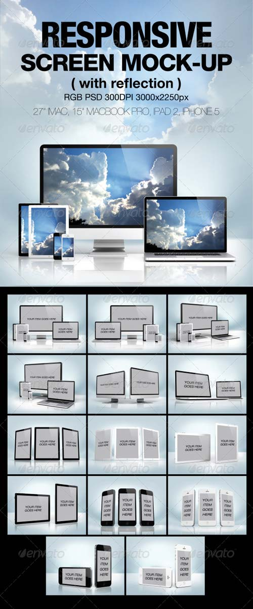 GraphicRiver Responsive screen Mock-up