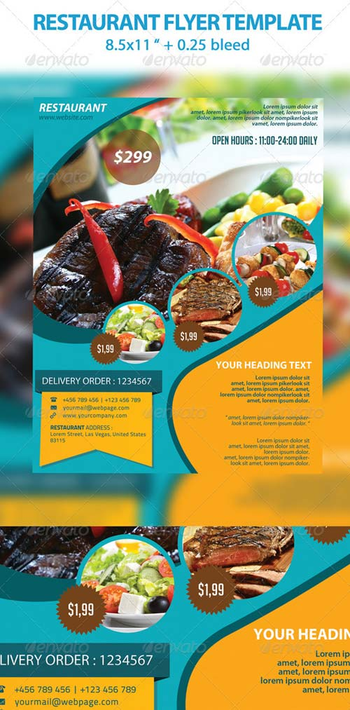 GraphicRiver Restaurant Flyer Template
