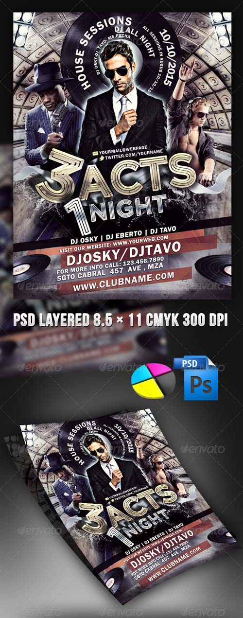 GraphicRiver 3 Acts 1 Night Party