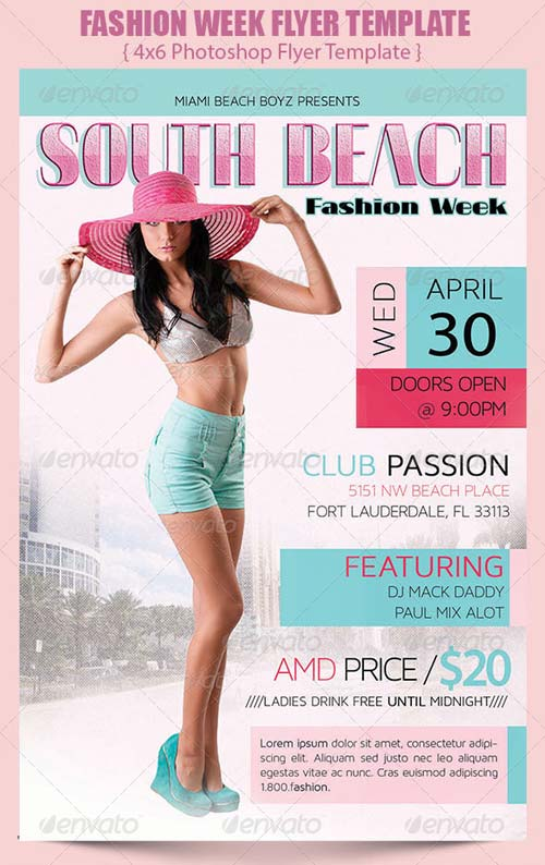 GraphicRiver Fashion Week Flyer Template
