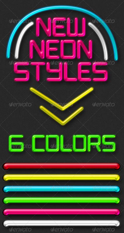 GraphicRiver New Neon Styles