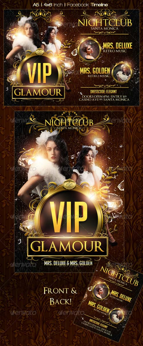 GraphicRiver VIP Glamour Flyer Template + Timeline