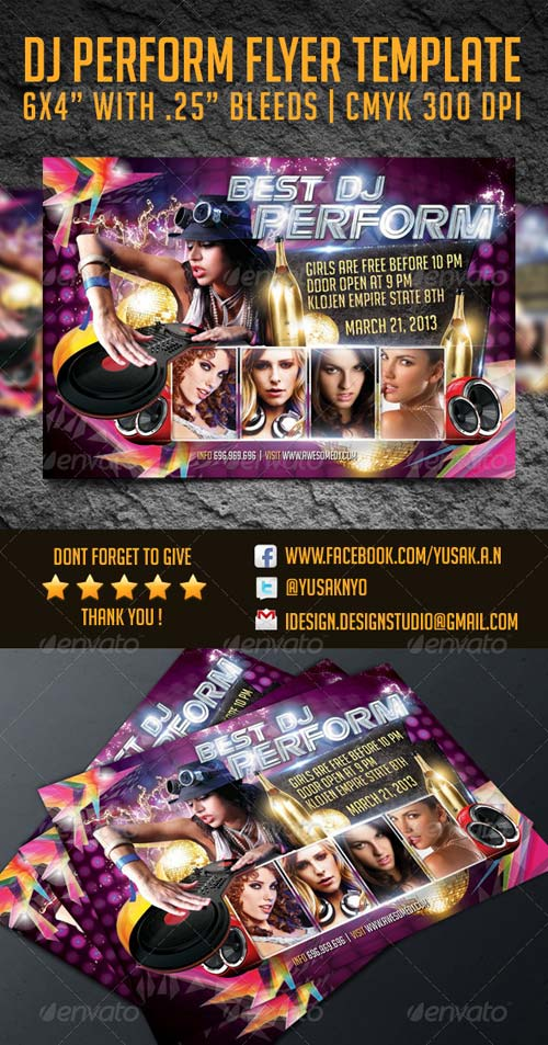 GraphicRiver DJ Performance Flyer