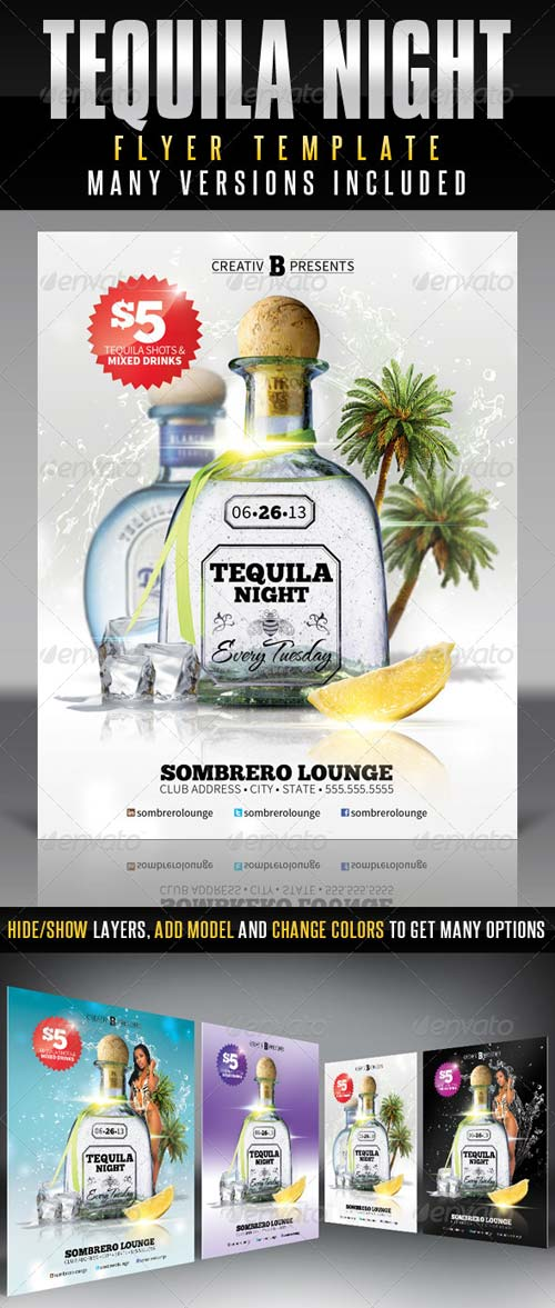 GraphicRiver Tequila Night Flyer Template