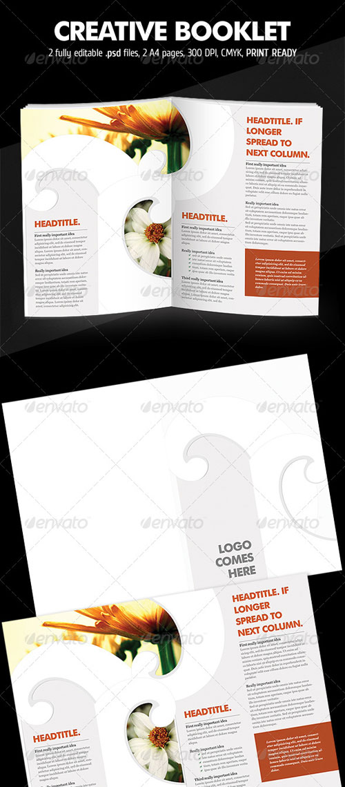 GraphicRiver Curly Brochure