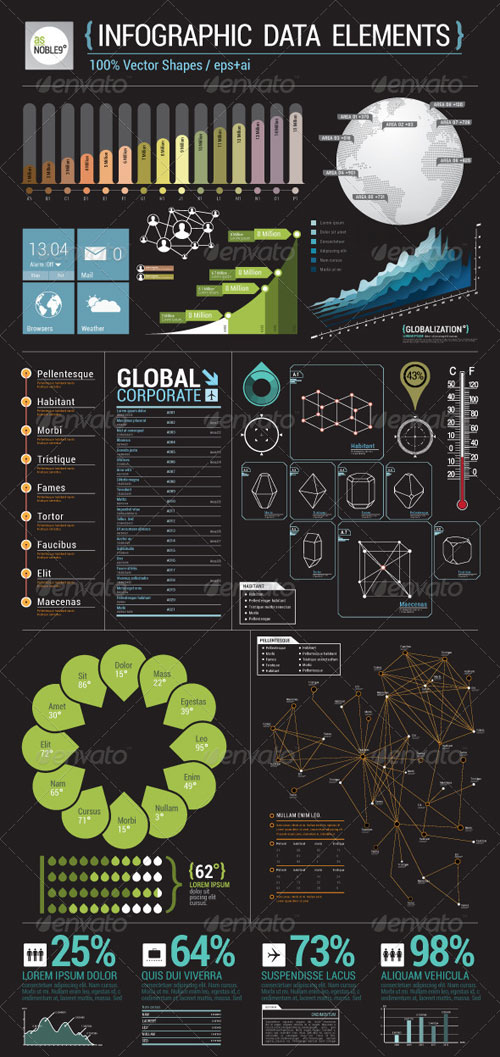 GraphicRiver Infographic Data Elements