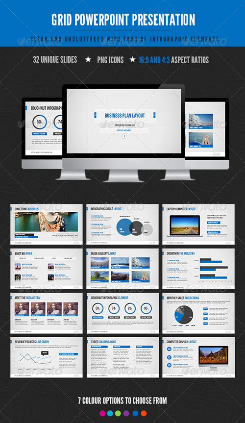 GraphicRiver Grid Powerpoint