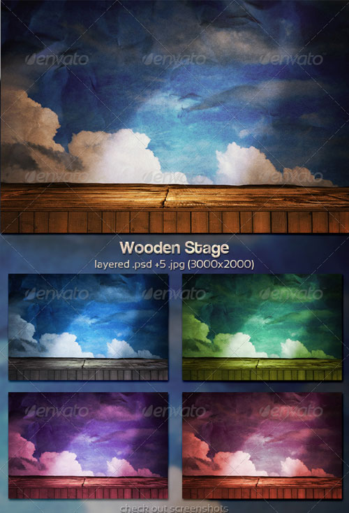 GraphicRiver Wooden Stage