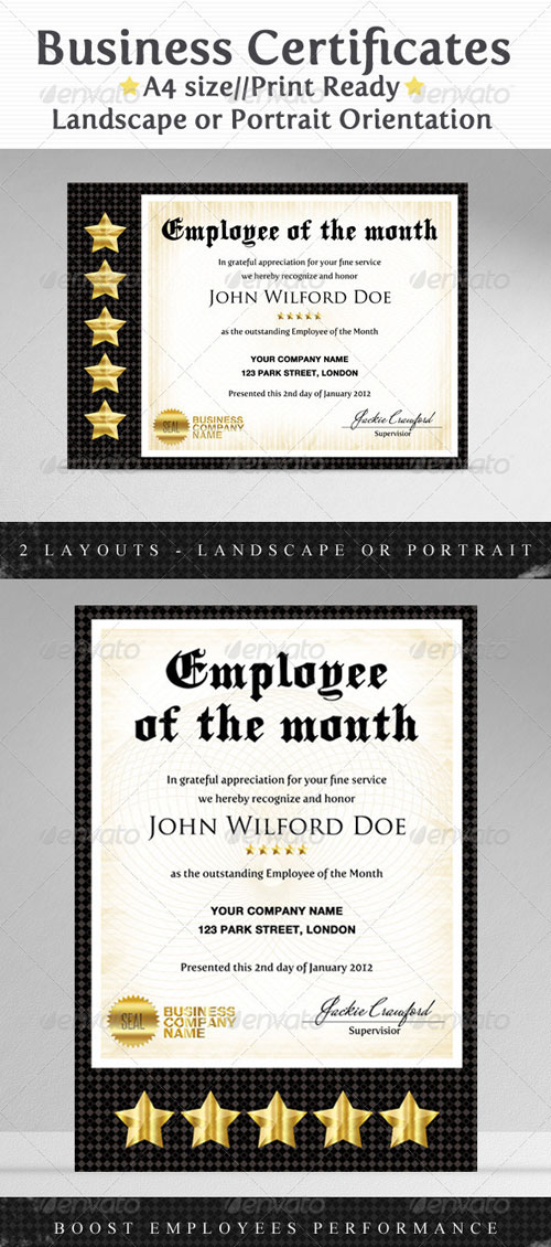 GraphicRiver Business & Company Certificates