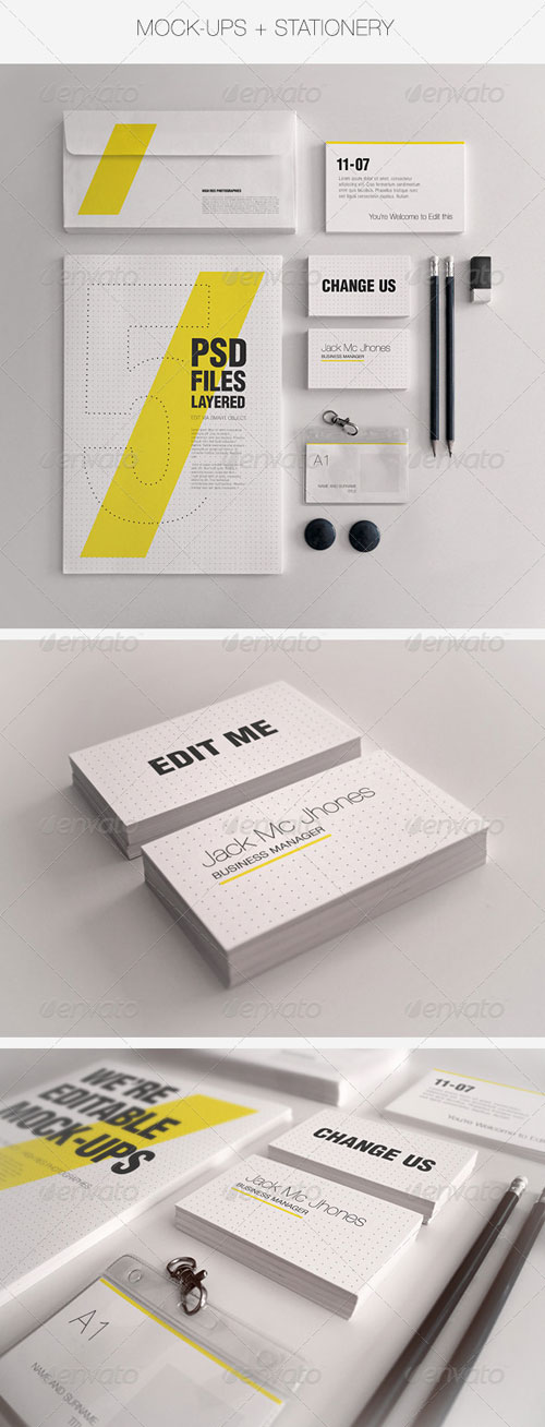 GraphicRiver Realistic Stationery Mockups Set 1- Corporate ID