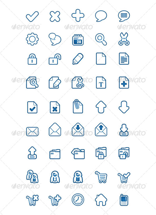 GraphicRiver BlueSakura 45 Icon for your project