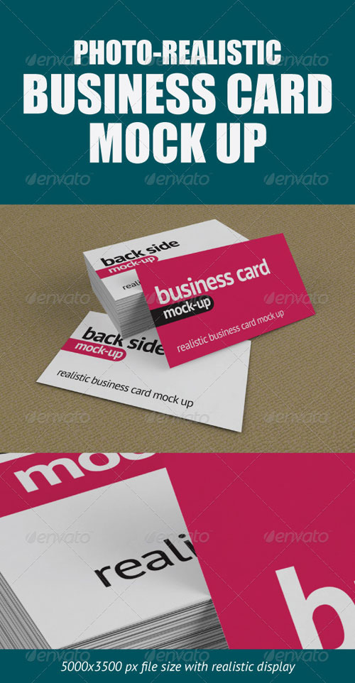 GraphicRiver Photo-Realistic Business Card Mock-Up
