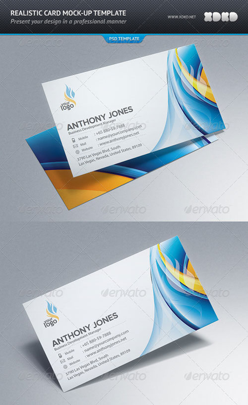 GraphicRiver Photorealistic Business Card Mockup Template