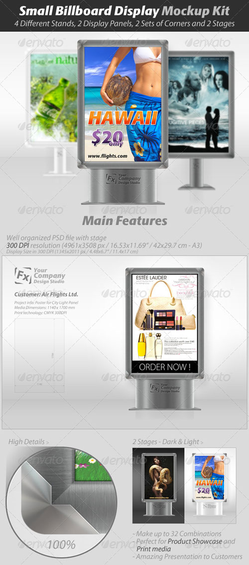GraphicRiver Small Billboard Display Mockup Kit