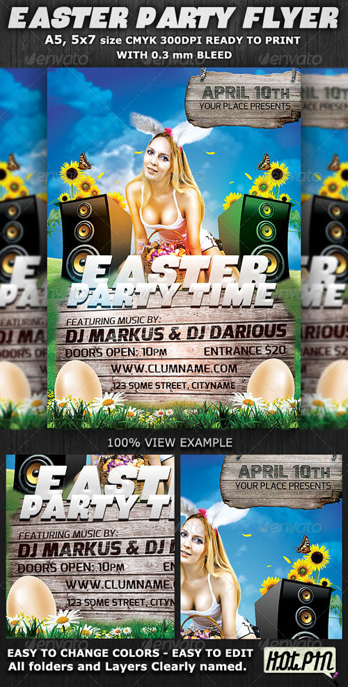 GraphicRiver Easter Party Flyer Template v2