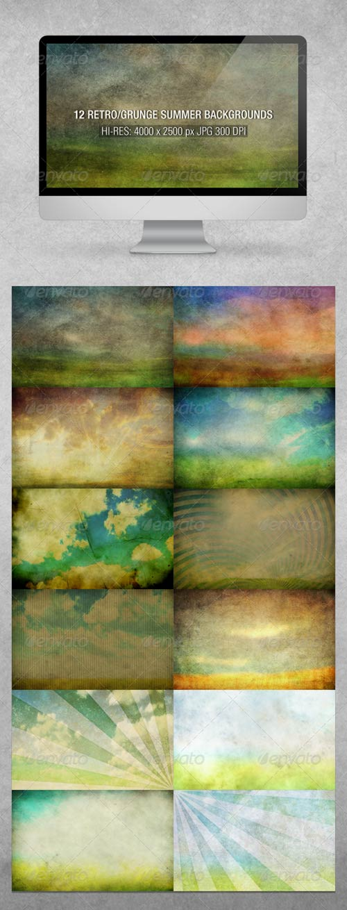GraphicRiver Dirty Summer Backgrounds