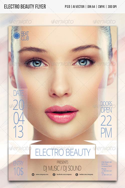 GraphicRiver Electro Beauty Flyer