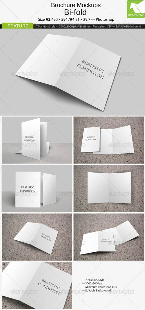 GraphicRiver Brochure Mockups 4 Pages