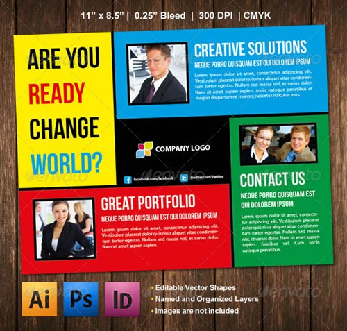 GraphicRiver Colored Boxes Flyer