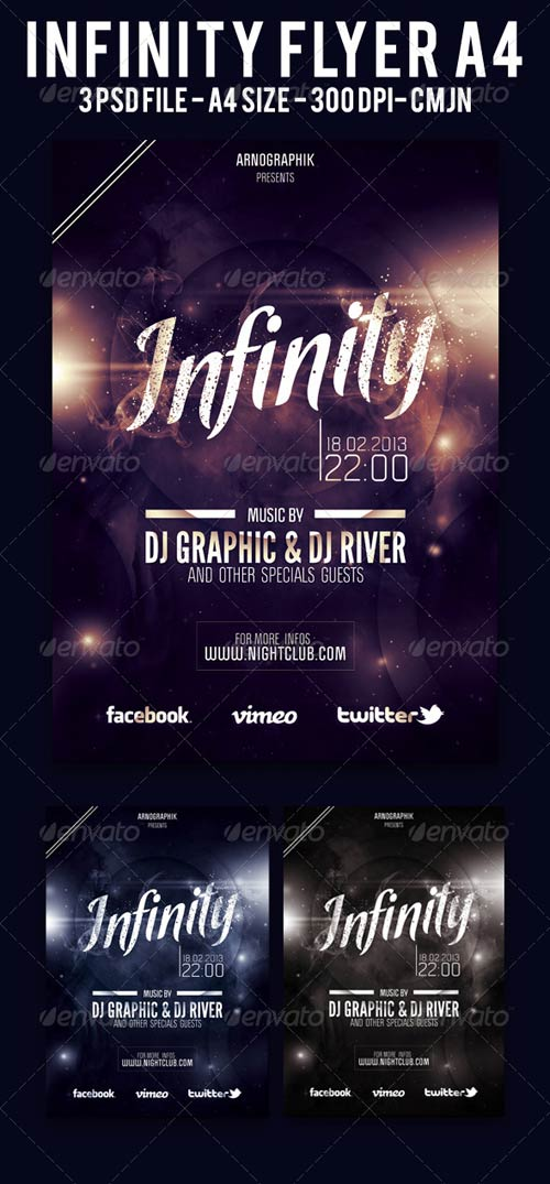 GraphicRiver Infinity Flyer A4