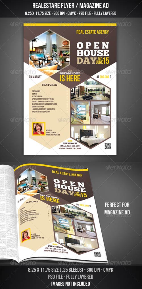 GraphicRiver Real Estate - Open House Flyer / Magazine AD