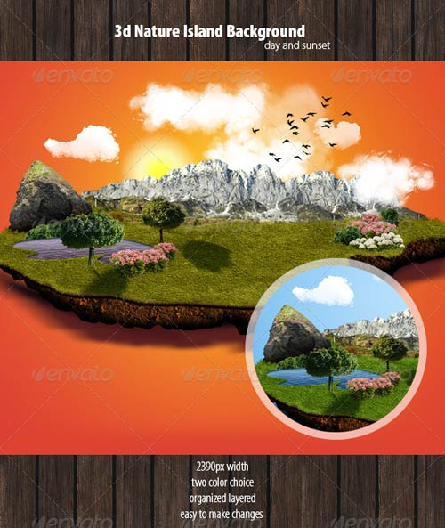 GraphicRiver 3D Nature Background