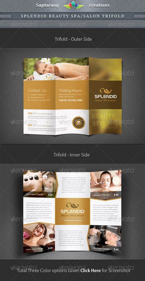 GraphicRiver Splendid Beauty Spa / Salon Trifold Brochure
