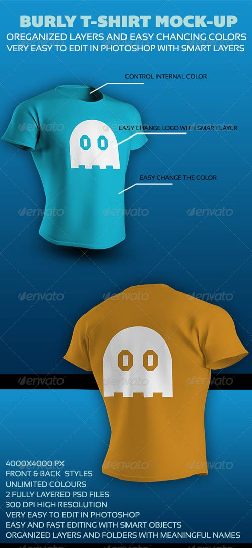 GraphicRiver Burly T-Shirt Mock-up