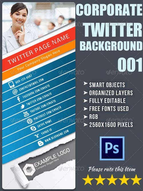 GraphicRiver Corporate Twitter Background 01