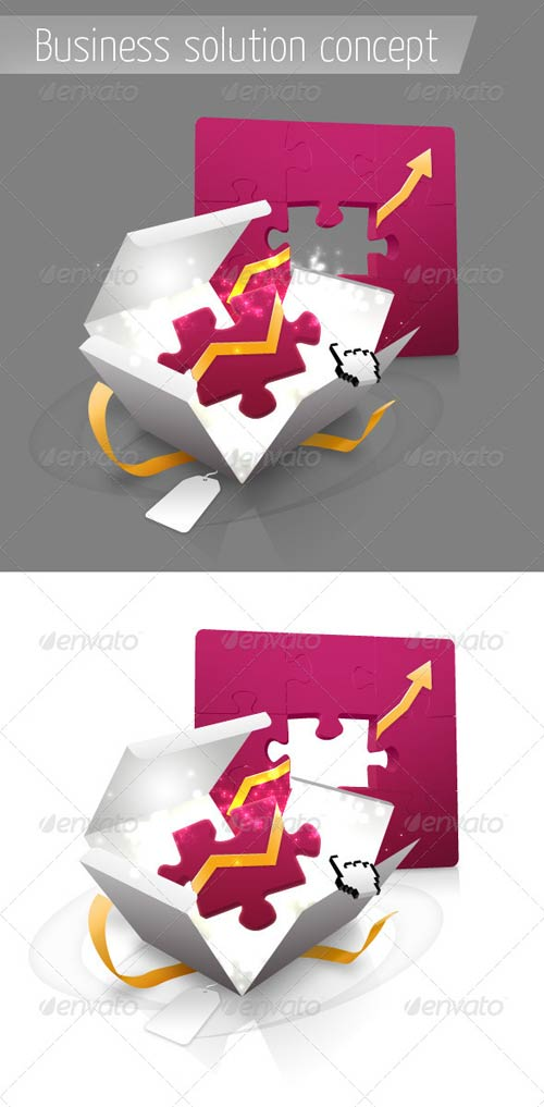 GraphicRiver Business Solution Concept with Puzzles
