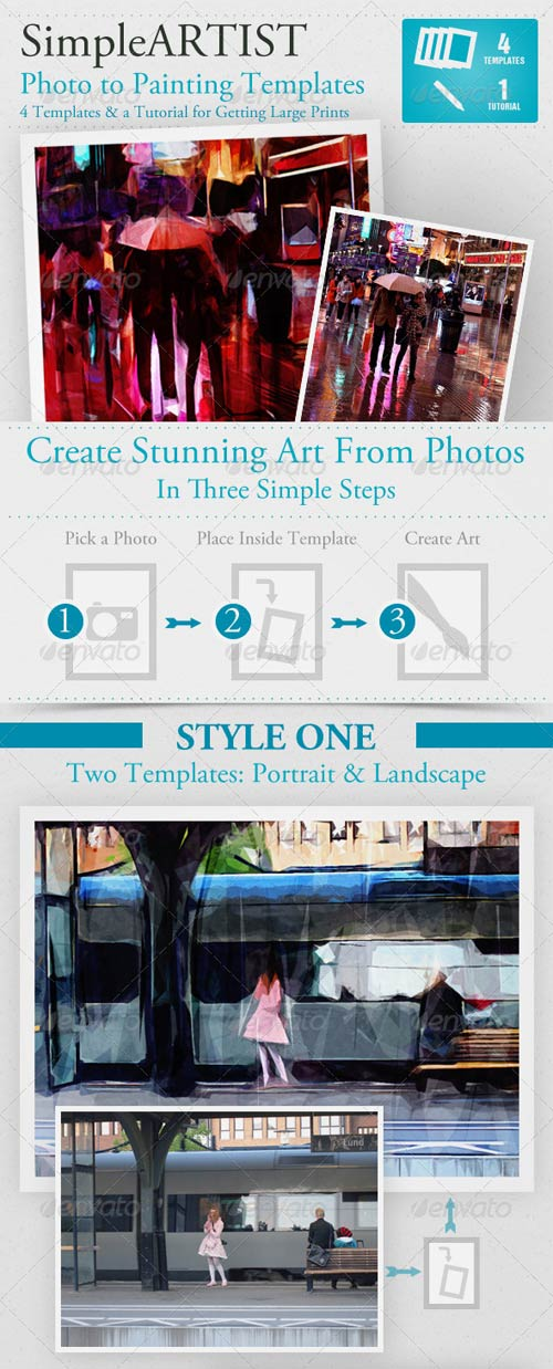 GraphicRiver Simple Artist Painting Template