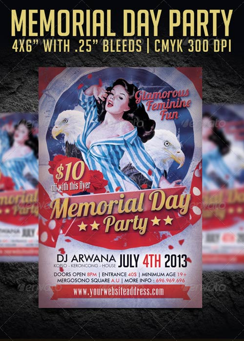 GraphicRiver Memorial Day Party Flyer Template