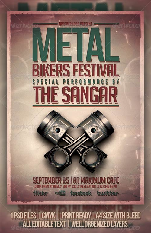 GraphicRiver Metal Bikers Flyer Template