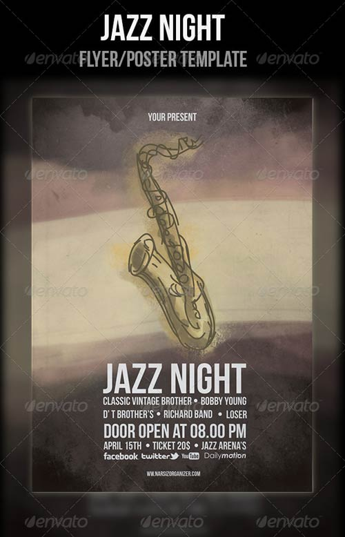 GraphicRiver Jazz Festival Flyer Template