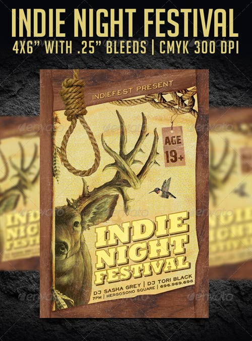GraphicRiver Indie Night Festival Flyer Template