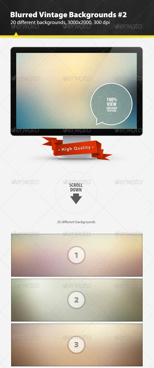 GraphicRiver Blurred Vintage Backgrounds #2
