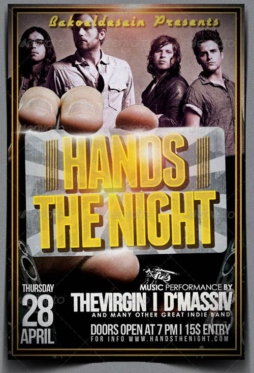 GraphicRiver Hands The Night Music Flyer