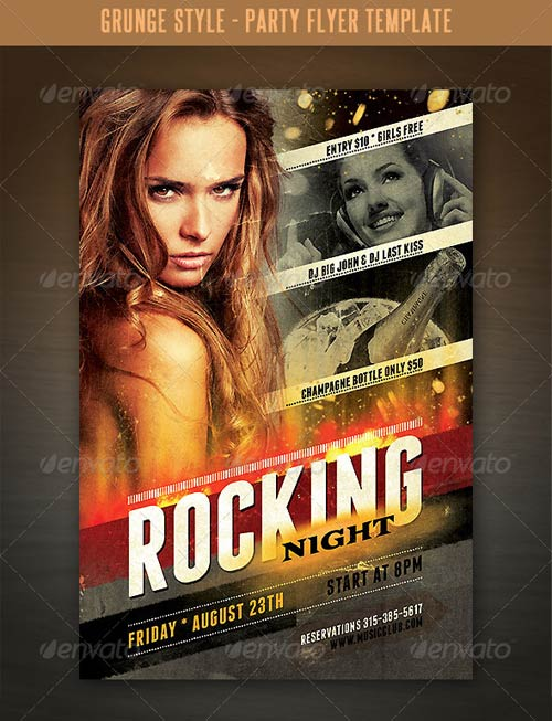 GraphicRiver Grunge Style Flyer Template