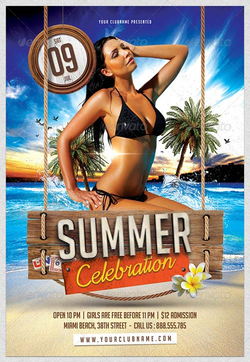GraphicRiver Summer Celebration Flyer Template