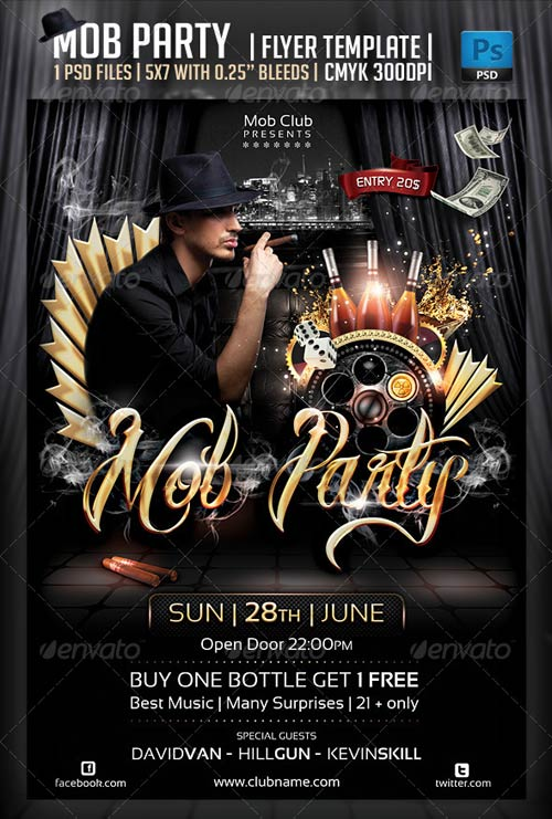 GraphicRiver Mob Party Flyer Template