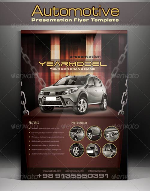 GraphicRiver Automotive Presentation Flyer Template